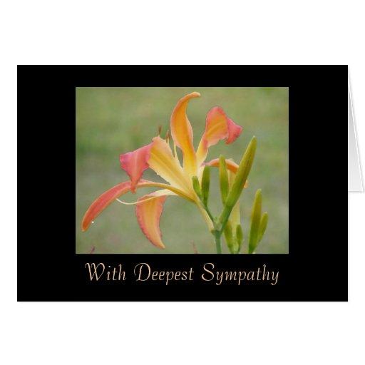 Condolencia del descanso tarjeta de felicitación