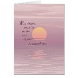 Condolencia del mascota de la salida del sol 2620 tarjeta de felicitación