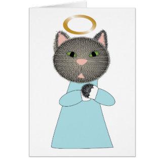 Condolencia del mascota del gato del ángel tarjeta de felicitación
