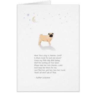 Condolencia del mascota del perro del barro amasad tarjeta