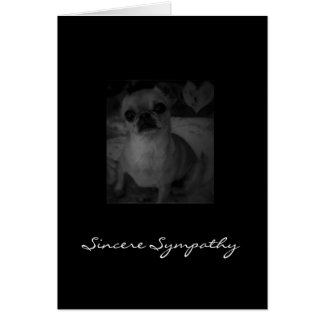 Condolencia del mascota tarjeton