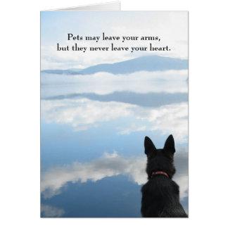 Condolencia del perro - los mascotas pueden dejar tarjeta de felicitación