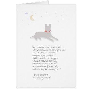 Condolencia del perro - pastor alemán - con el tarjeta de felicitación