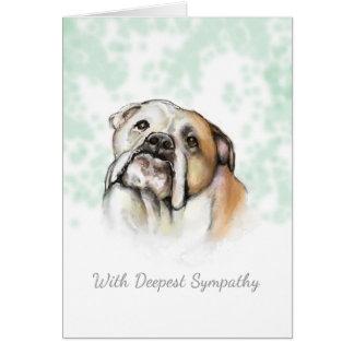 Condolencia del perro - tarjeta de condolencia del