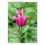 Condolencia del tulipán de la primavera tarjeton
