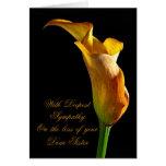 Condolencia en la pérdida de hermana tarjeta