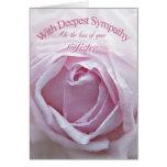 Condolencia en la pérdida de hermana, un color de  tarjetas