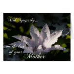 Condolencia en la pérdida de madre floral+Scriptur Tarjeton