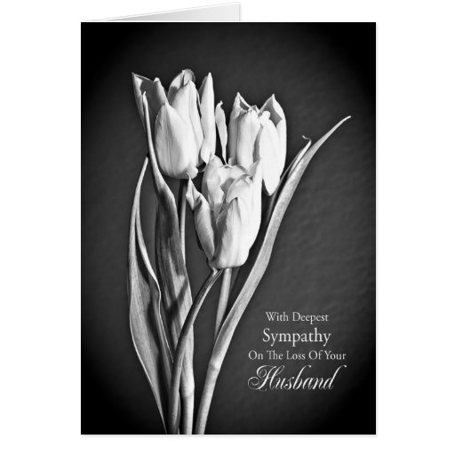 Condolencia en la pérdida de marido tarjeta