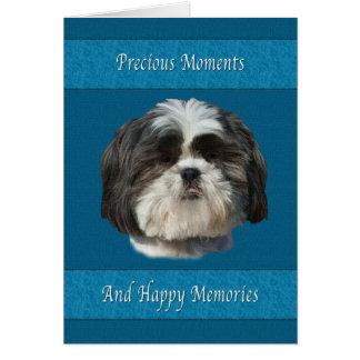 Condolencia en la pérdida de mascota perro de Shi Tarjetón