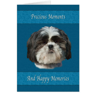 Condolencia en la pérdida de mascota, perro de Shi Tarjetón