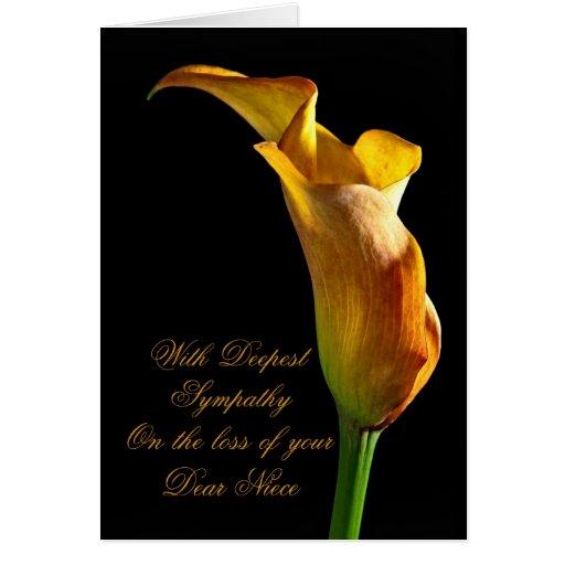 Condolencia en la pérdida de sobrina felicitacion
