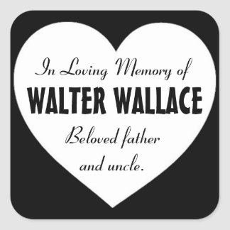 Condolencia en memoria de los pegatinas negros de