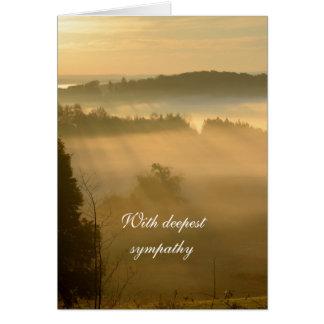 Condolencia etérea del paisaje del amanecer tarjeta de felicitación
