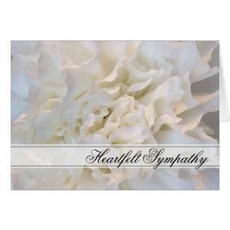 Condolencia floral blanca tarjeta de felicitación