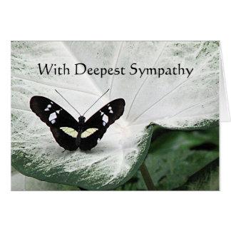 Condolencia - mariposa negra tarjeta de felicitación