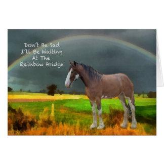 Condolencia para la pérdida de caballo del mascota tarjeta de felicitación