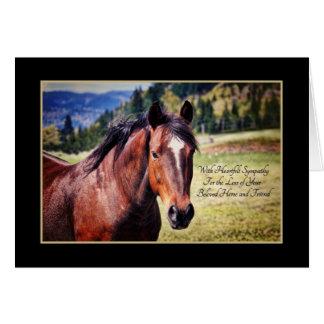 Condolencia para la pérdida de caballo querido del tarjeta de felicitación