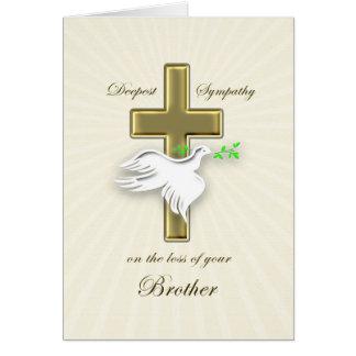 Condolencia para la pérdida de hermano tarjeta de felicitación