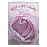 Condolencia para la pérdida de madre, un color de tarjeta de felicitación