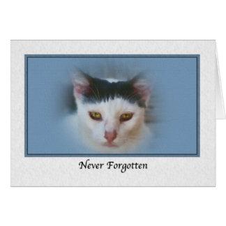 Condolencia para la pérdida de mascota con el gato tarjeta de felicitación