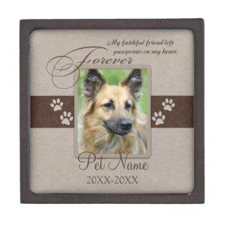 Condolencia para siempre amada del mascota cajas de recuerdo de calidad