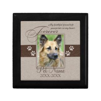 Condolencia para siempre amada del mascota caja de joyas