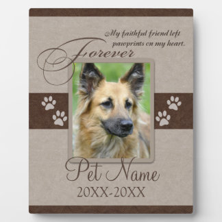 Condolencia para siempre amada del mascota placa de madera