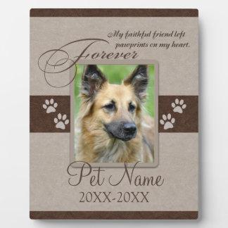 Condolencia para siempre amada del mascota placas de plastico
