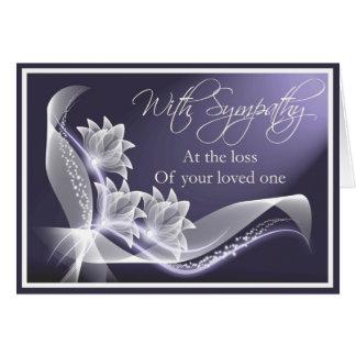 Condolencia - pérdida de amado una tarjeta