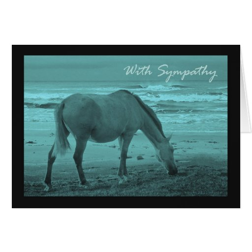 Condolencia, pérdida de caballo del mascota tarjeta de felicitación