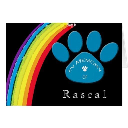 Condolencia personalizada Condolenc del mascota de Tarjeton