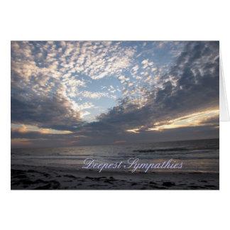 """Condolencias """"corazón en las nubes """" tarjeta de felicitación"""
