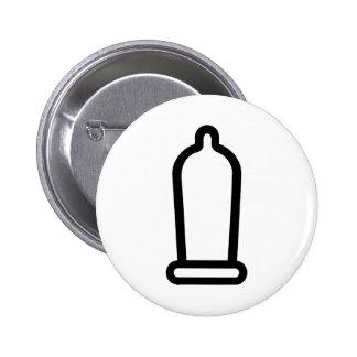 Condom 2 Inch Round Button