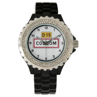 Condom, Road Sign, France Wristwatch