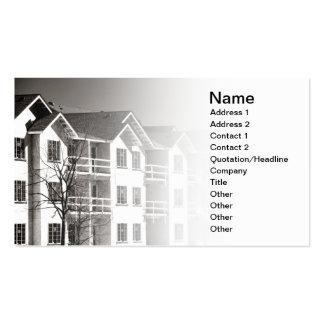 condominium building under construction business card