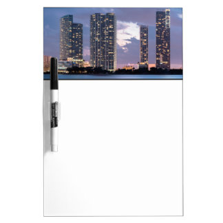 Condominium towers at the waterfront in Miami Dry-Erase Board