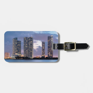 Condominium towers at the waterfront in Miami Luggage Tag