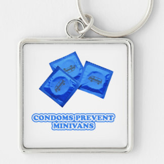 Condoms Prevent Minivans Keychain