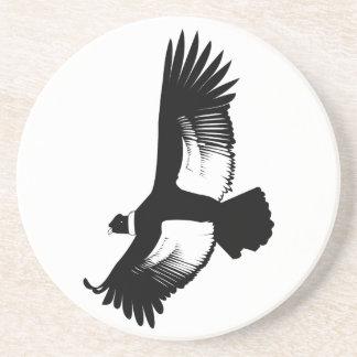 Cóndor andino que vuela posavasos de arenisca