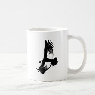 Cóndor andino que vuela taza