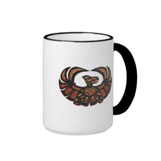 Cóndor azteca taza de dos colores