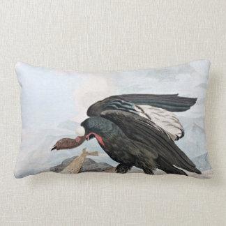 Condor Bird and Seal Vintage Art Pillow