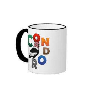 Cóndor colorido taza de café