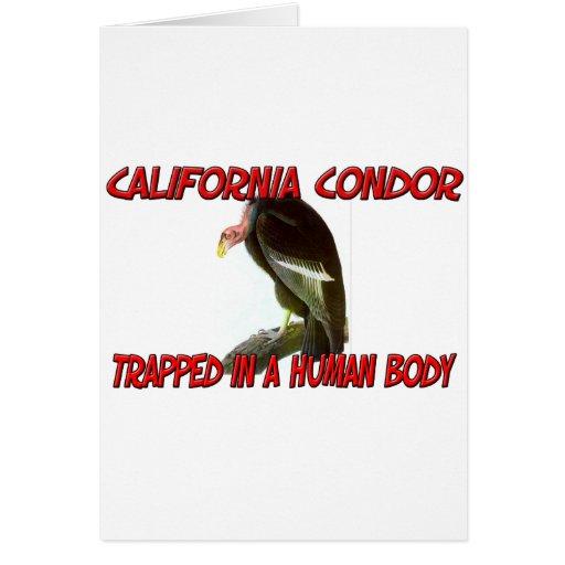 Cóndor de California atrapado en un cuerpo humano Tarjeta De Felicitación