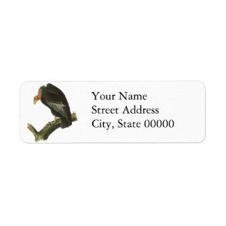 Cóndor de California, Juan Audubon Etiqueta De Remitente