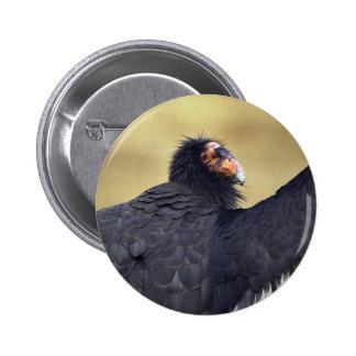 Cóndor de California Pin Redondo De 2 Pulgadas