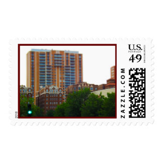 Condos Along Brush Creek Country Club Plaza KC Postage Stamp