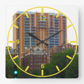 Condos Along Brush Creek Country Club Plaza KC Square Wall Clock