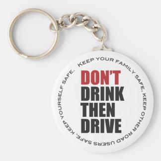 Conducción bebida anti llavero redondo tipo pin